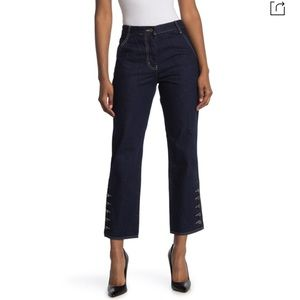Current Air High Waisted Button Cuff Jeans Large